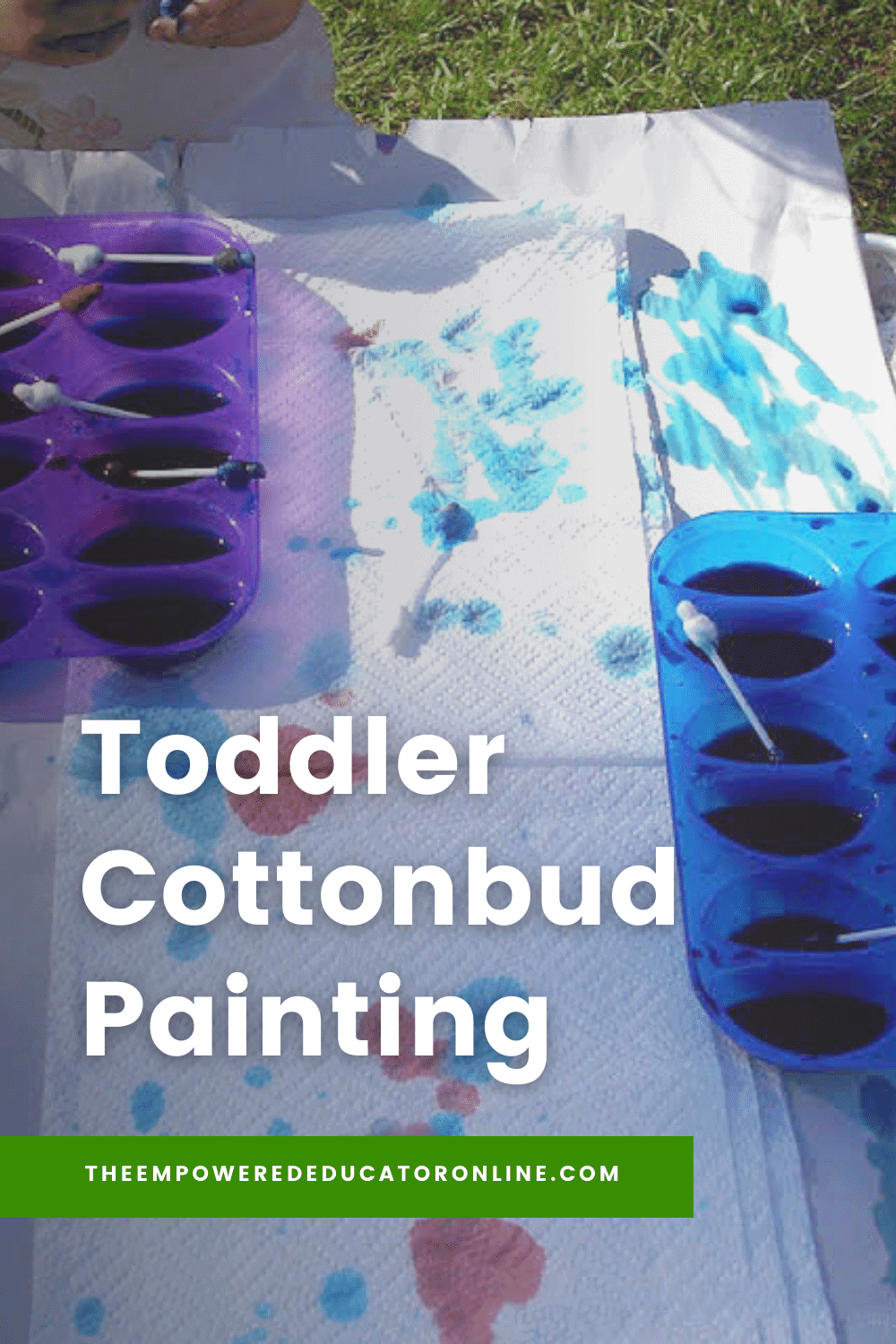 Toddler Cottonbud Painting