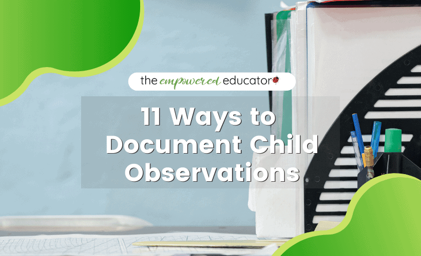 document child observations