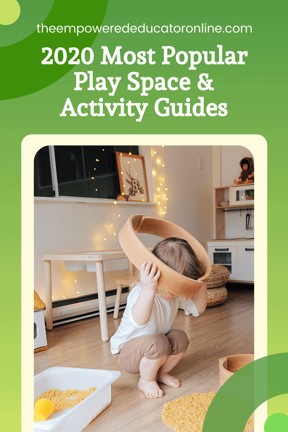 The Empowered Educator's Most Popular Play Spaces and Activities for early learning in 2020. Inspiration for educators, homeschool, daycare, ece