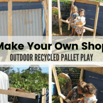 Easy Recycled Pallet Market Stall, Cubby or Shop for Outdoor Play!