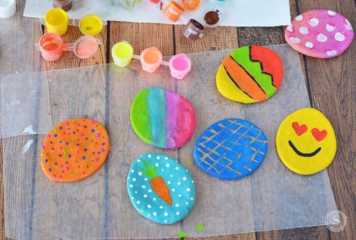 playful Easter activities for children -salt dough eggs
