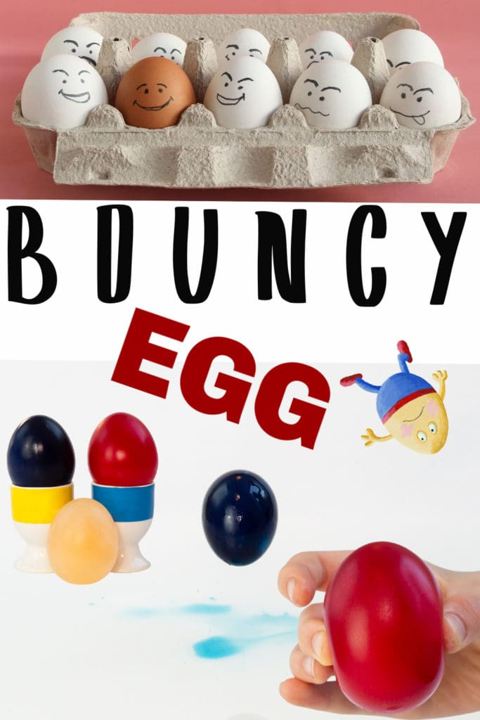 bouncy eggs - science sparks