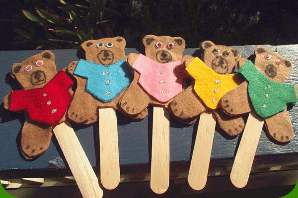 fun and learning with felt teddy bears
