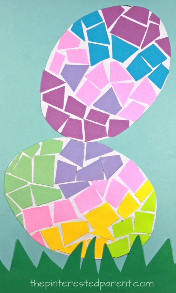 mossaic easter egg craft