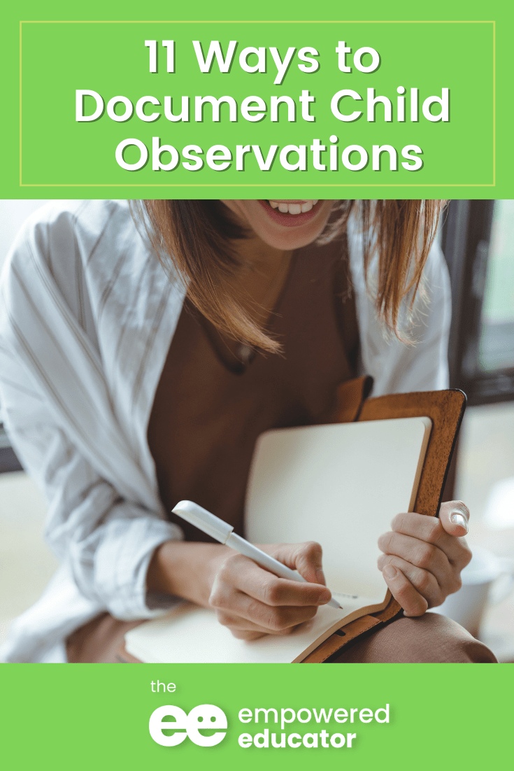 11 ways How You Can Document Child Observations