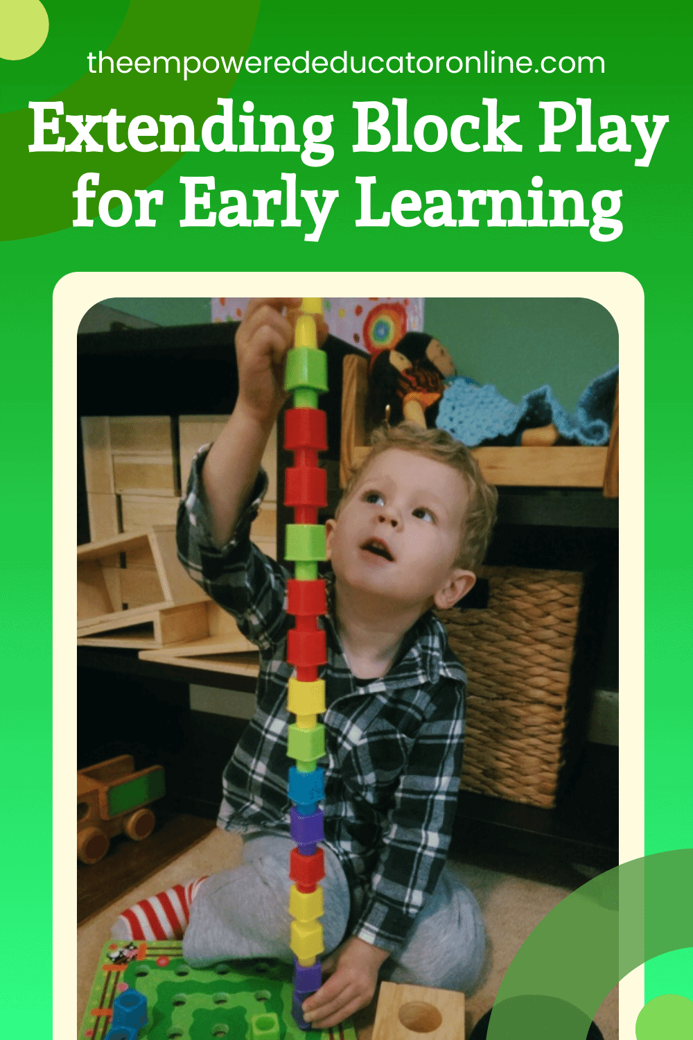 how to extend block play for early learning