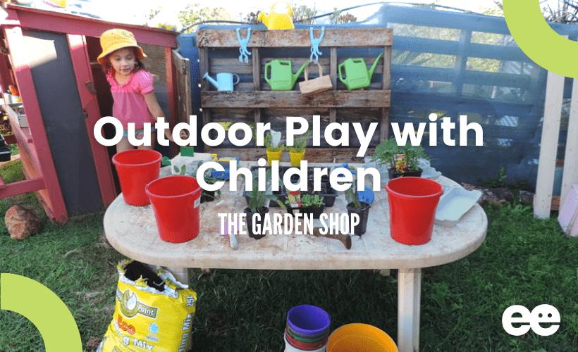 outdoor garden play with children