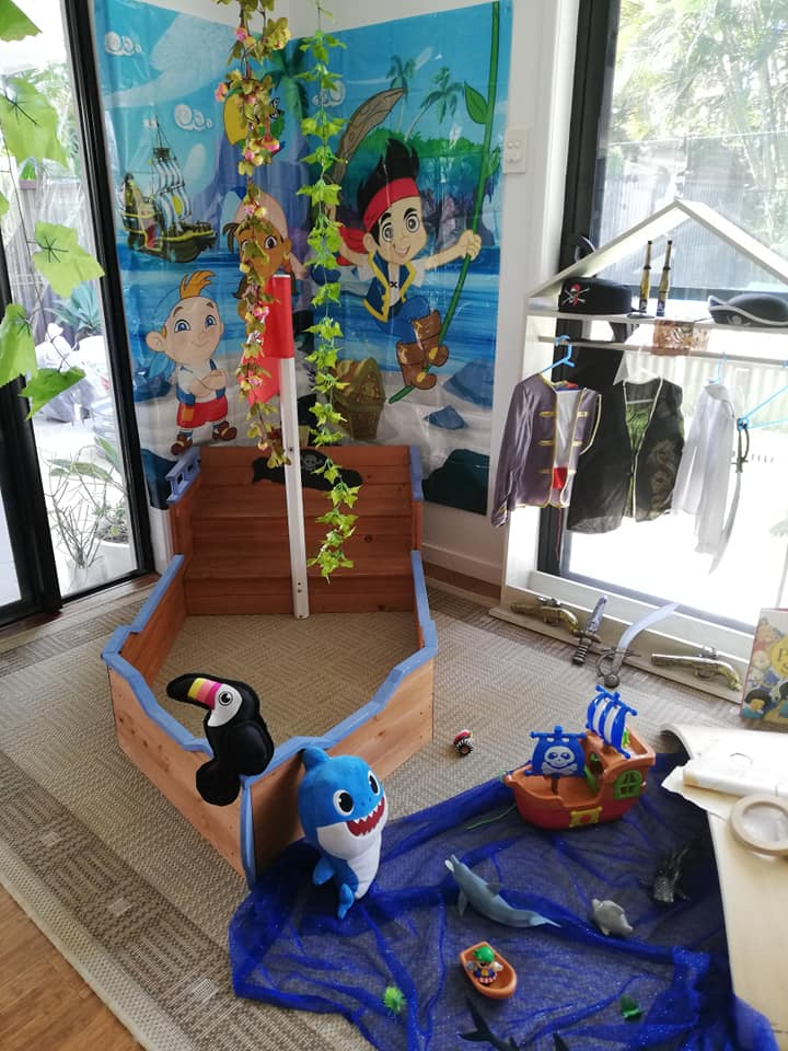 pirate boat setup for ealry learning