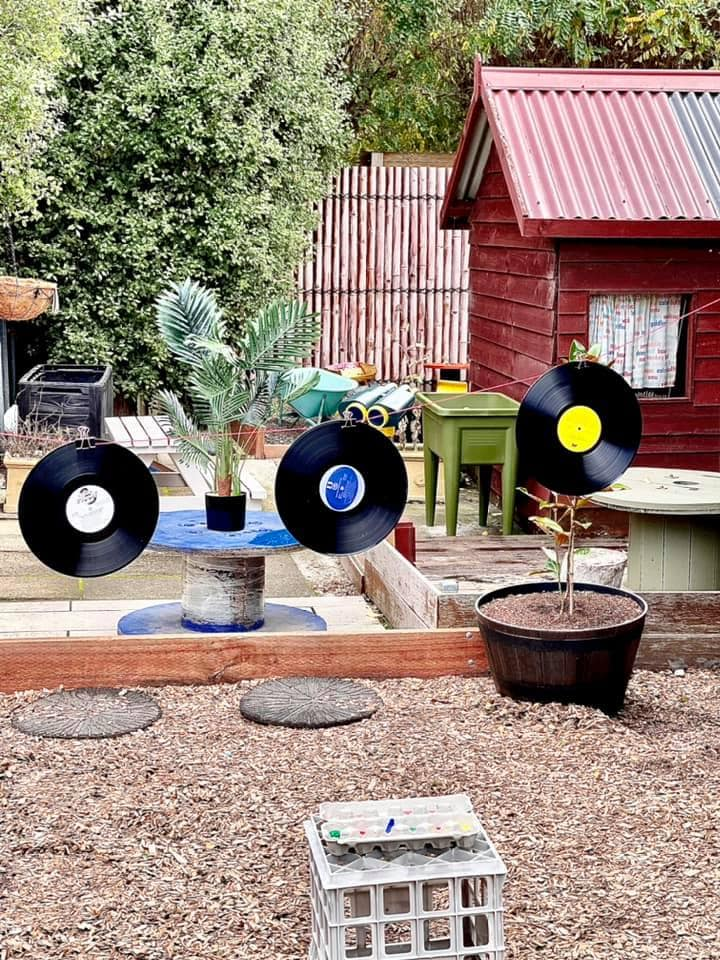 early leanring provocations painting on records
