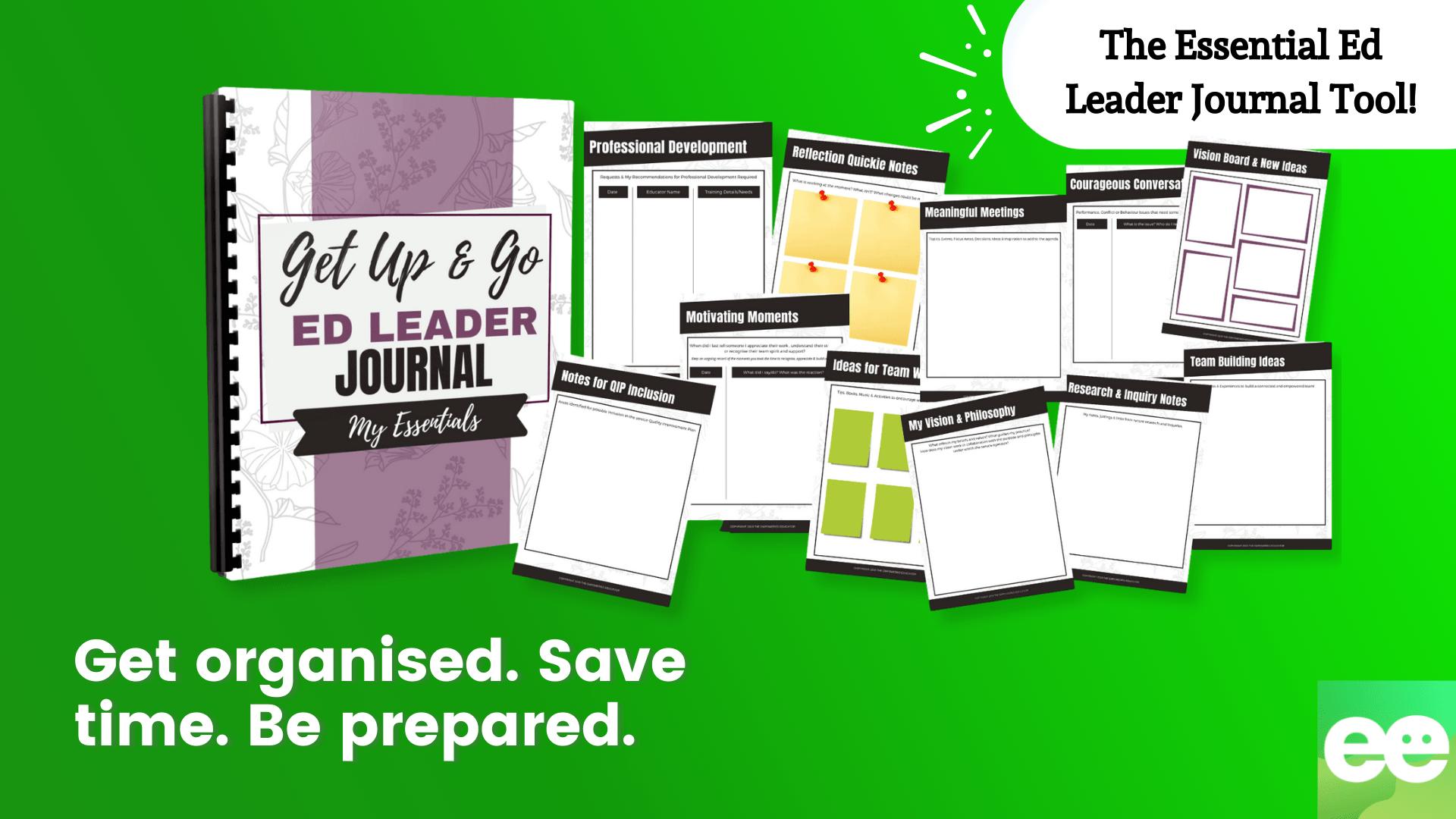 essential ed leader journal tool