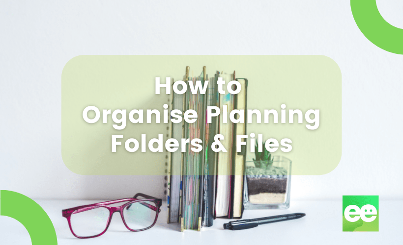 organising planning folders and files