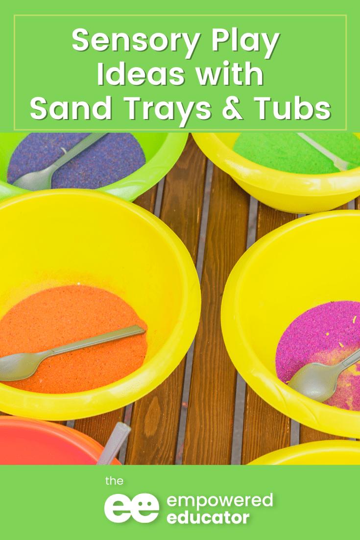 pin sensory sand play trays an tubs