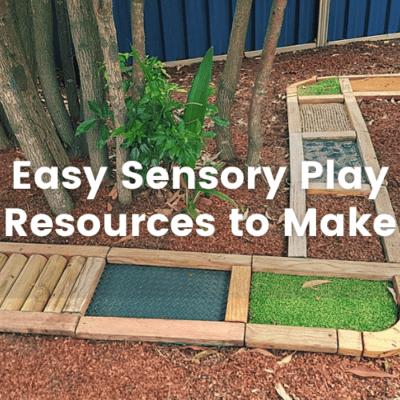 Easy Sensory Play Resources to Make