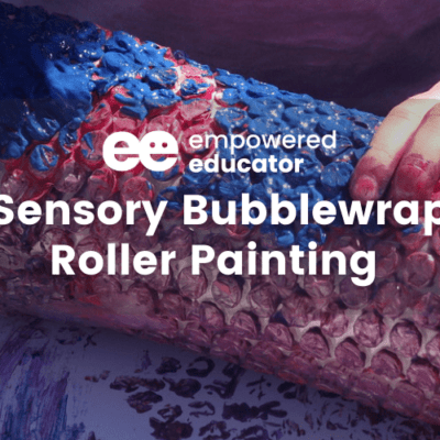 DIY Sensory Bubblewrap Roller Painting – With Tips to modify for SPD children.