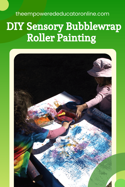 diy sensory roller painting