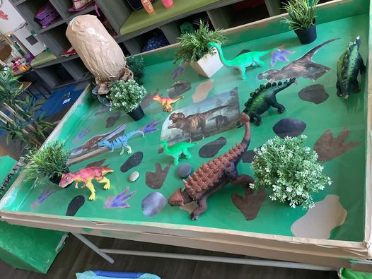 Dinosaur invitation to play