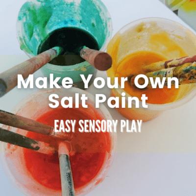 Sensory Painting for children – Exploring texture through art