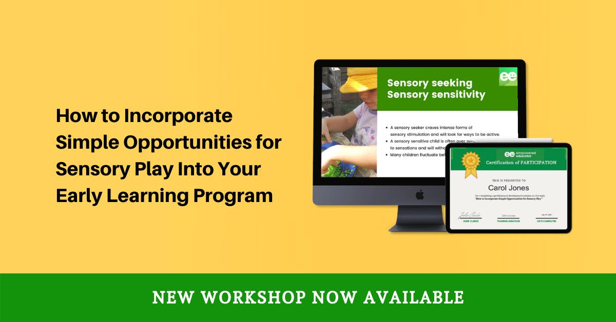 sensory play workshop - access now