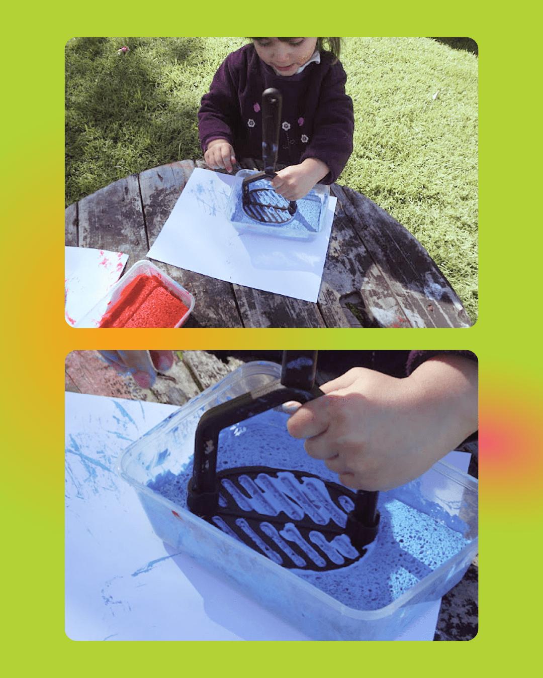 Stamper and Swatter activities using sensory tools  - sensory activities