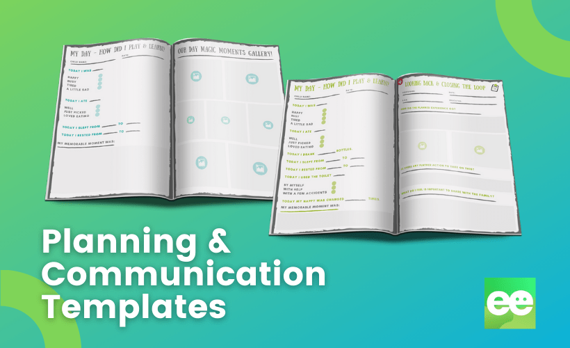 planning and communication templates for babies and toddlers
