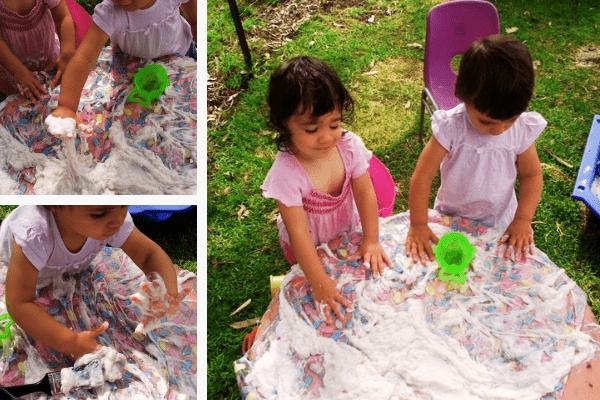 sensory, soap slime play
