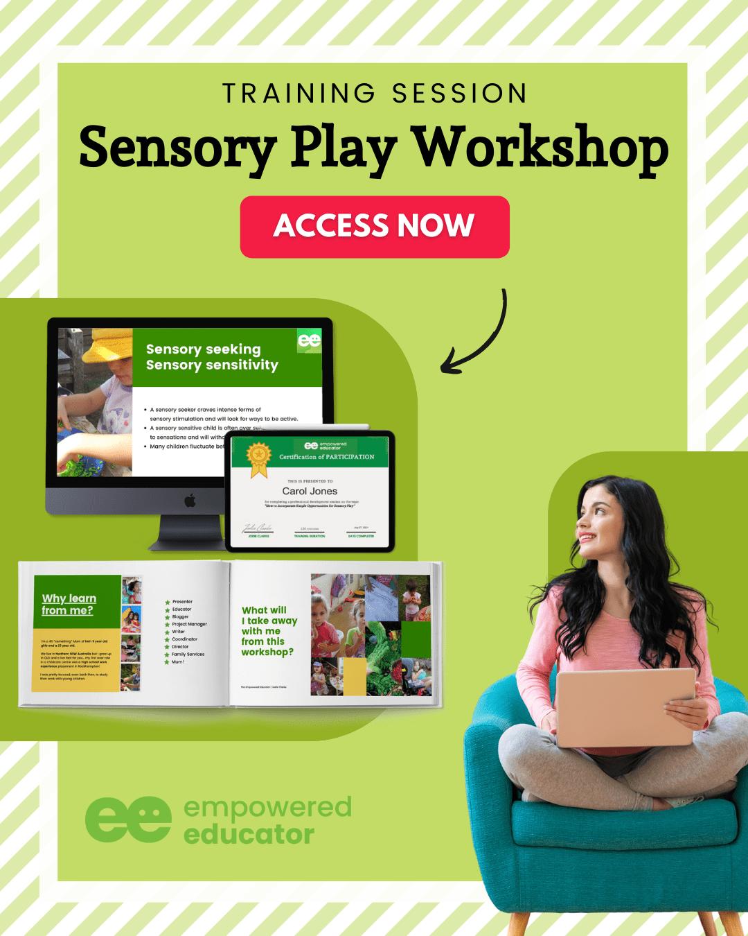 sensory play workshop for early childhood educators