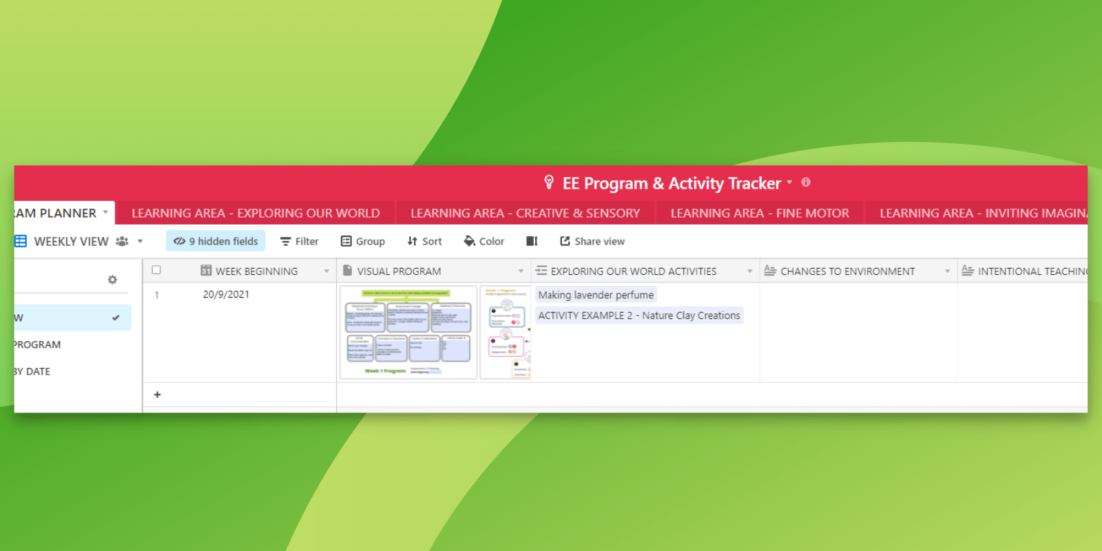 Easily reuse your previous activities and program plans