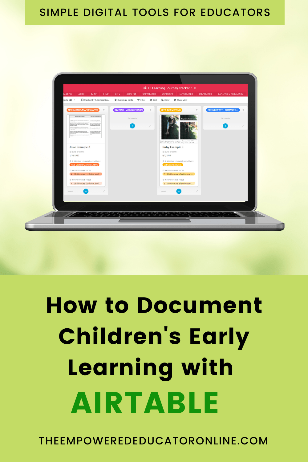 Document Children's Early Learning with Airtable1