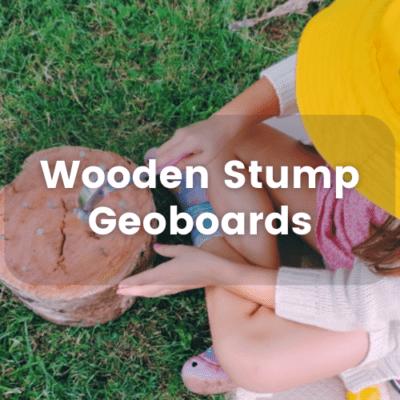 Wooden Stump Geoboards – Taking Math Play Outdoors!